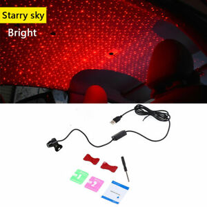 USB Red LED Projector Light Car Interior Light Atmosphere Ambient Lamp Sky type