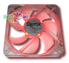 SilenX Effizio 120mm x 25mm Silent Red LED Case Fan 15 dBA, 74 CFM, EFX-12-15R