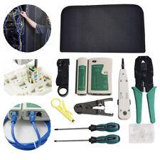 Netzwerk Werkzeug Set 9 teilig Elektronik Crimpzange LAN LSA Kabeltester RJ45