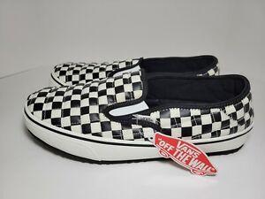 Men's Vans Slippers Slip-Er 2 UltraCush Checkerboard Black/White Size 13 New