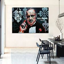 """Alec monopoly """"The Godfather"""" oil painting on canvas large wall picture 36x24"""