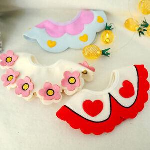Dog Cat Saliva Towel Bib Pet Scarf Triangle Floral Scarf Small Dog Collar 8C