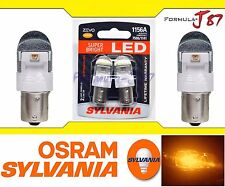 Sylvania ZEVO LED Light 1156 Amber Orange Two Bulbs Front Turn Signal Replace OE