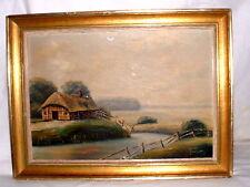 Herbstliches  Landschaftsgemälde Öl auf Platte sign.Roland Rahn dat. 1941