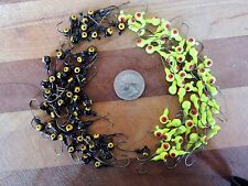 100 NEW BLACK/ CHARTREUSE JIG HEAD LOT 1/8 OZ WALLEYE CRAPPIE PANFISH FISHING