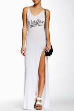 WILDFOX Beverly Chasse Jet Set Maxi Dress Clean White M NWT $132