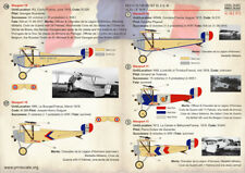 Print Scale Decals 1/72 French Nieuport  Aces of WWI Decals 72-257
