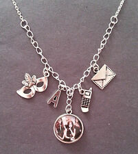 Pretty Little Liars Inspired Charm Mask Necklace with Gift Bag
