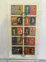 Sharjah Munich 1972 Olympics  cancelled stamps sheet R27578