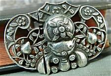 Vintage Akr- Amy Kahn Russel Sterling Critter Buckle Clasp