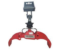 Mini Holzgreifer DG08 für Maschinengewicht bis 2,5t incl Rotator & MS01 Aufnahme