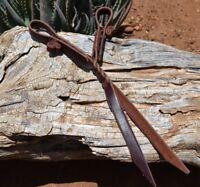 Jose Ortiz Latigo Leather Vaquero Style Long Tassel Tie Curb Strap