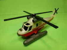 PLASTIC HELICOPTER for WATERLANDING HDT  - WHITE RED 1:87? - GOOD CONDITION