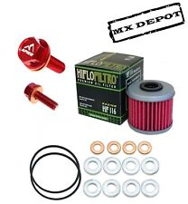 OIL CHANGE KIT & HF116 FILTER & APICO DRAIN PLUG HONDA CRF450 2009 - 2015