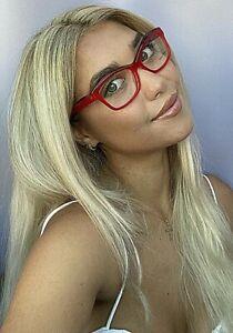 New ALAIN MIKLI  54mm Cats Eye Women's Eyeglasses Frame Italy