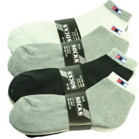 Tom 3-12 Pairs Lot Men Sports Ankle Quarter Crew Socks Cotton Low Cut Size 10-13