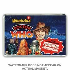 RETRO - WEETABIX ART - DOCTOR WHO & HIS ENEMIES - JUMBO FRIDGE MAGNET