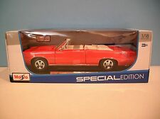 New MIB 1:18 Scale Maisto Red 1965 Pontiac GTO Convertible Die-cast Car