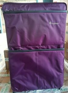 IT Luggage Worlds Lightest 2 Wheel Suitcase Potent Purple Large 79cm New