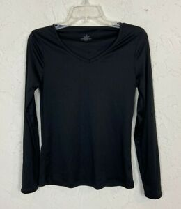 Cuddl Duds ClimateRight Women's Small Black Thermal Long Sleeve Top