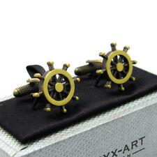Ship's Wheel Nautical Cufflinks New Boxed By Onyx-Art CK747