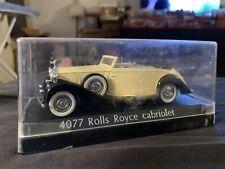 Vintage Solido 4077 Rolls Royce Cabriolet 1:43 Diecast Car France MIB