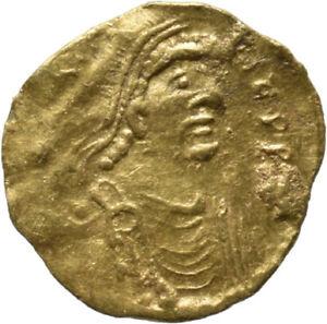 DIONYSOS Constantin IV. AV-Tremissis Constantinopel Kreuz #MO 1607