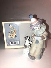 Mint! Lovely Lladro 'Pierrot With Concertina Clown Figurine #05279 Original Box
