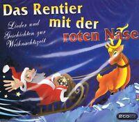 Rentier mit der roten Nase - Lieder und Geschichten - 2CDs NEU Weihnachten