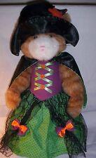 Retired Boyd Halloween Tabitha Tabby Cat Plush Black Witch Hat Cape Trick Treat