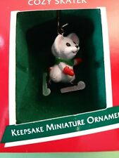 "1989 Hallmark Keepsake Miniature Ornaments ""Cozy Skater"""
