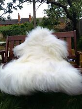 Icelandic sheepskin rug colour white/ivory120-80cm/1