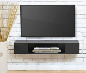 FITUEYES Floating TV Stand Cabinet, Wooden TV Console for Living Room, Entertain