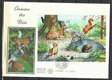 France FDC premier jour écureuil hérisson hermine chevreuil animaux des bois