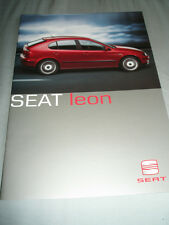 Seat Leon range brochure Jun 2000