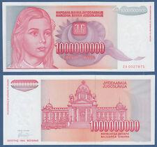 YUGOSLAVIA 1.000.000.000 Dinara 1993 Replacement ZA UNC P.126