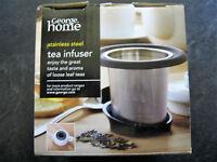 Stainless Steel Tea Infuser Loose Leaf Herbal Tea Strainer with Drip Tray