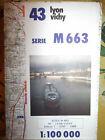 Carte IGN 43 serie M663 Lyon vichy Edition N° 1 1986*