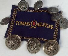 Tommy Hilfiger dark silver metal button set of 9 for blazer/suit,With logo