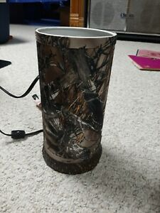 Accent Lamp Light Mossy Oak Camouflage Shade Home Bedroom Decor