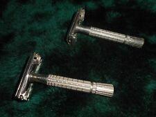 LOT OF 2 Vintage SUPER SPEED FLARE TIP  Twist GILLETTE SAFETY RAZORS L2 & D1