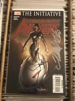 THE MIGHTY AVENGERS #2 FRANK CHO SIGNED MS MARVEL IRON MAN ULTRON 2007 marvel