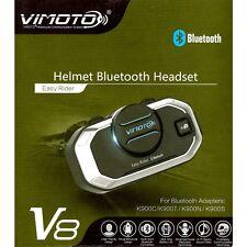Motorcycle Vimoto V8 GPS Way Radios Helmet Bluetooth BT Headset 850mAh Intercom