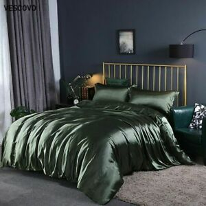 Mulberry Silk Bedding Sets Bed Linen Queen Bed Fitted Sheet Comforter Cover Sets