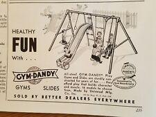 1953 GYM DANDY vintage playground equipment swing set slide ad