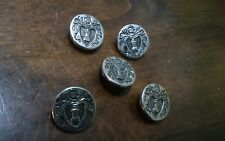 Lot Of 5 Knights & Armor Buttons