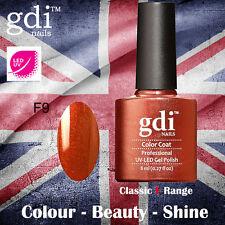UK SELLER Gdi Nails CLASSIC Range F09 UV/LED Gel Soak Off nail polish