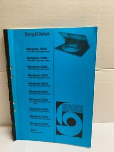 Bang & Olufsen Service Manual For Beogram 3000,3300,3500,4500,5005,5500,6500-