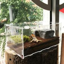 Transparent Acrylic Pet Reptile Tank Insect Snake Breeding Breeder Rearing Box