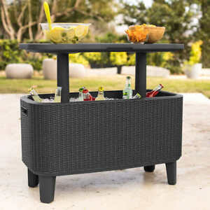 Keter Bevy Bar Table/Cooler Box Combo 56L Chiller Weatherproof UV-Protected